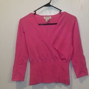 ❤SALE! Pink Crossover Shirt/Top